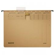 Závěsné desky Leitz ALPHA® s rychlovazačem Přírodní hnědá