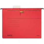 Závěsné desky Leitz ALPHA® s rychlovazačem Červená