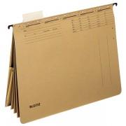 Závěsné desky Leitz ALPHA® s rychlovazači a kapsou Přírodní hnědá