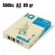 Papír IQ Color barevný A3 80g vanilkový BE66