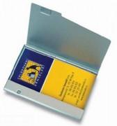 Pouzdro na vizitky MPM matný kov 20 vizitek stříbrný